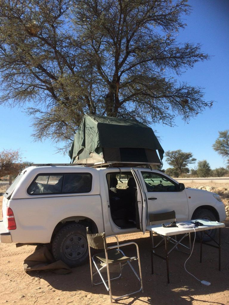 Camplager in Namibia
