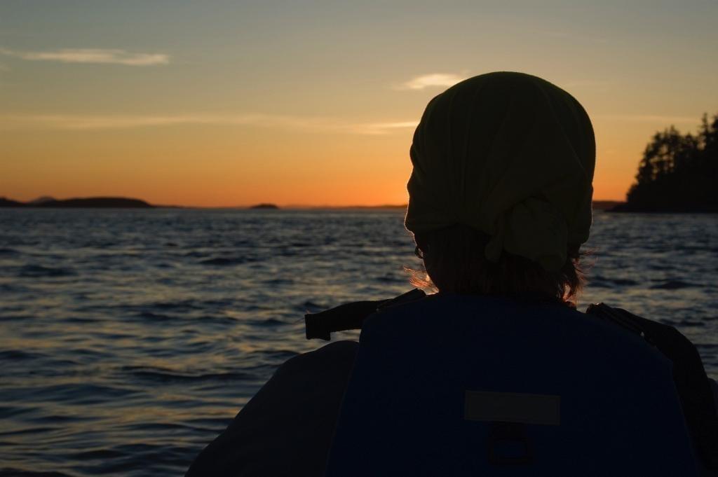 Sonnenuntergang im Blackfish Sound