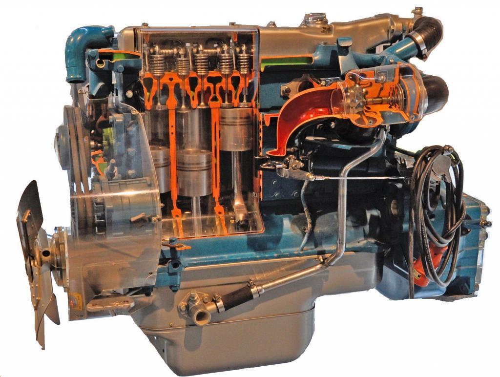 OM352 Motor allerdings ohne Turbo. Copyrights: Ra Boe / Wikipedia