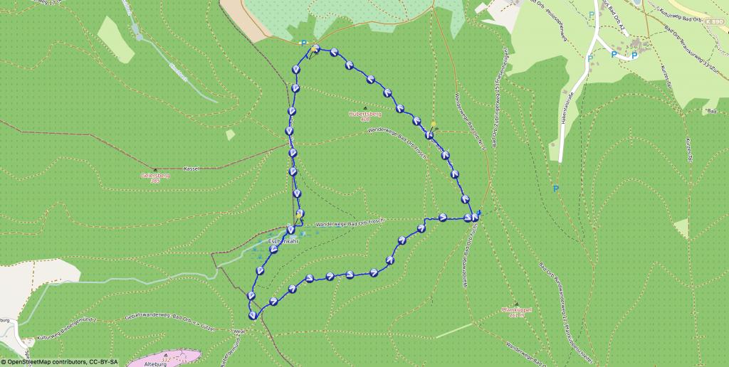 Karte - Wir wandern zum Eschenkar Feuchtgebiet