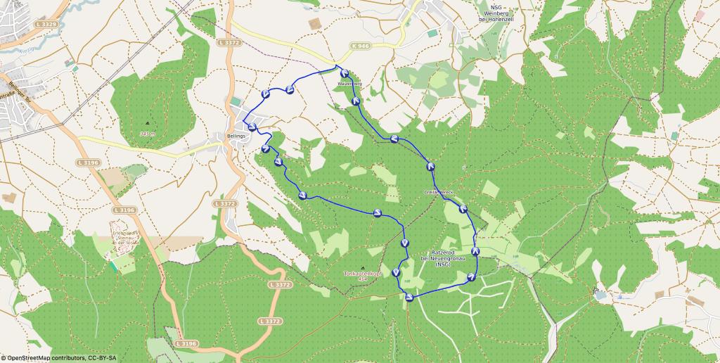 Karte - Zur ehemaligen Siedlung Ratzerod
