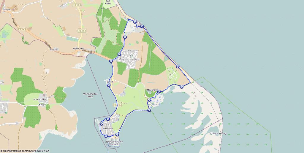 Wanderung mit Hund um Maasholm an der Ostsee