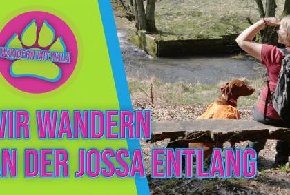 Wandern mit Nala - Wir wandern an der Jossa entlang