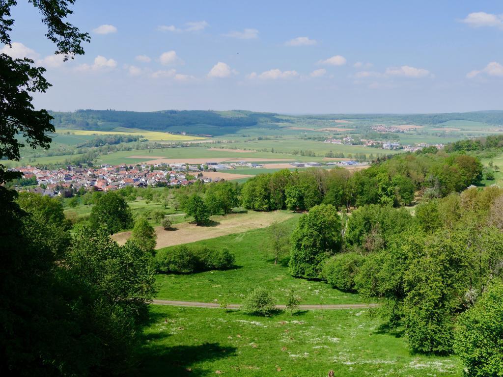 Der Blick vom Plateau in die Wetterau