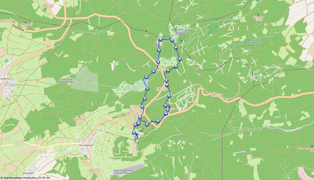 Wandern mit Nala - Gipfelstürmer auf dem Vogelsberg
