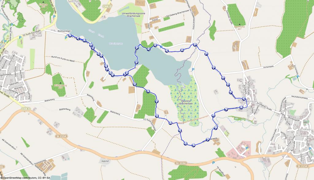Wandern mit Hund am Drachensee bei Furth im Wald