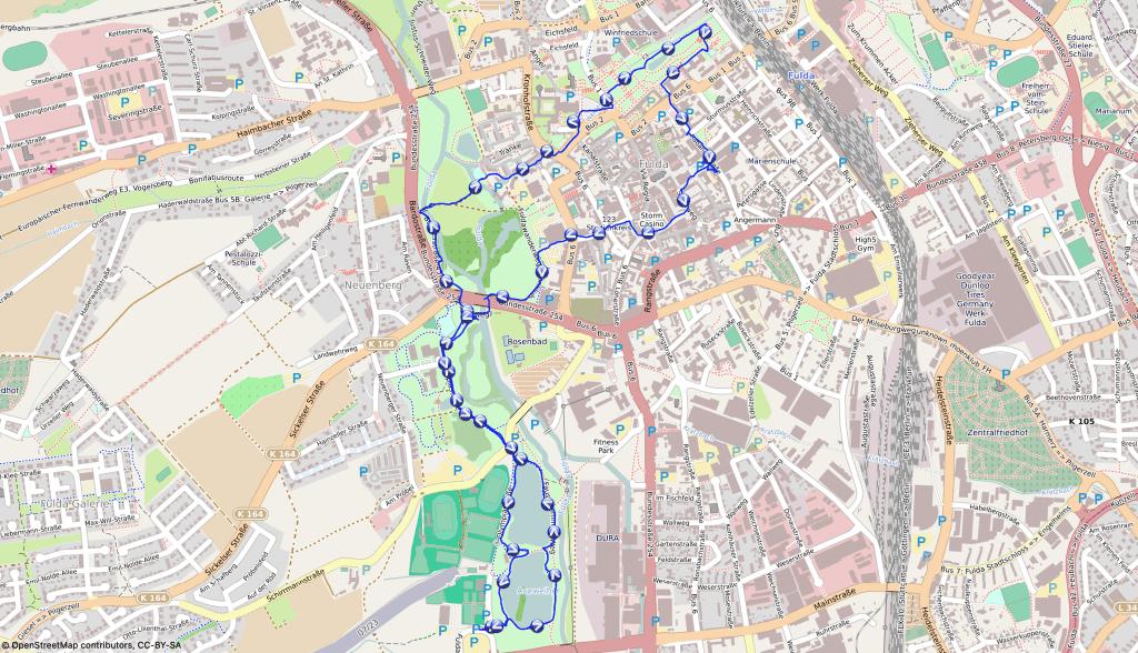 Unsere Wanderroute durch die Domstadt Fulda