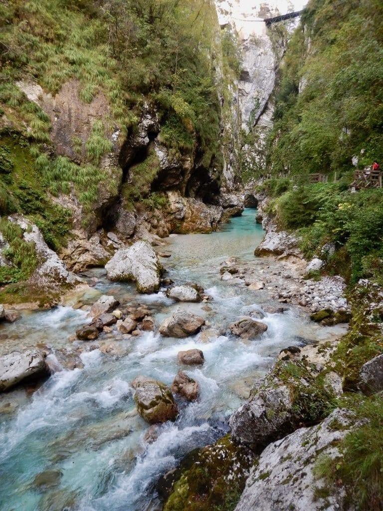 Fluss-Idyll in Slowenien