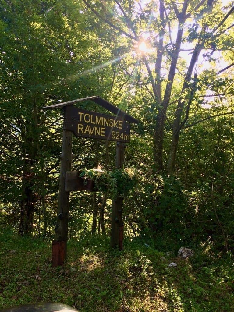 Unser Startpunkt für die Wanderung im Triglav Nationalpark - Tolminske Ravne