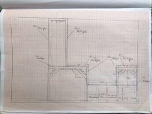 Die technisch Zeichnung für unsere Sitzgruppe