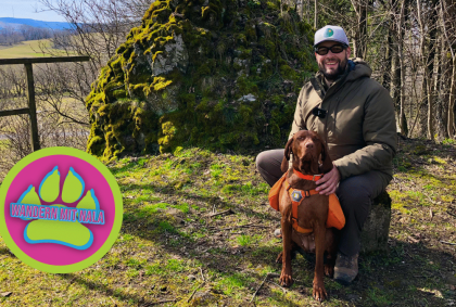Grenzwanderung mit Hund im Grünen Band der Rhön