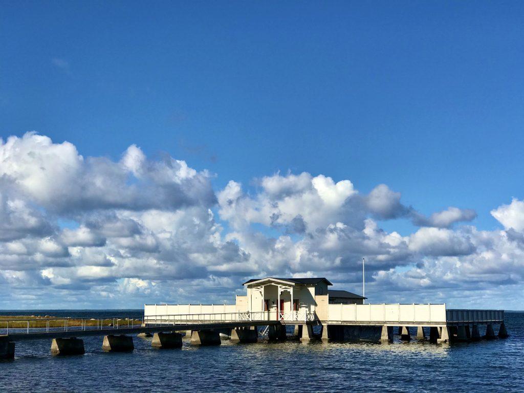 Das alte Badehaus von Borgholm