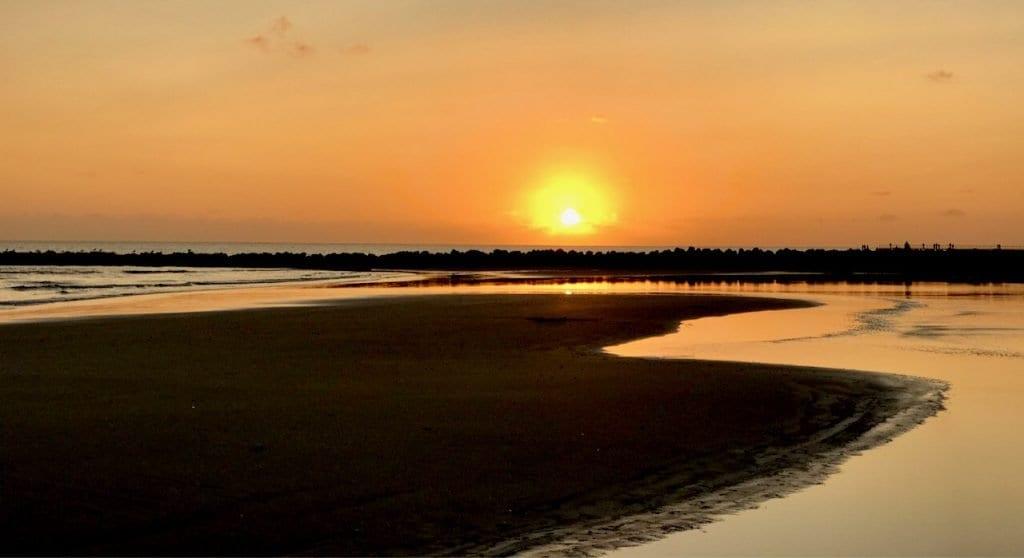 Sonnenuntergang am Blåvand Strand
